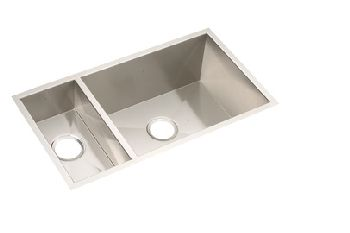 Elkay EFU321910 Avado Deep Double Bowl Kitchen Sink - Stainless Steel (Reversible Design)