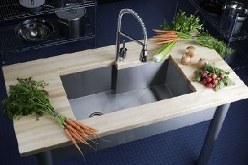 Elkay EFUS342110R Avado Single Bowl Sink - Stainless Steel (Pictured w/Faucet - Not Included)