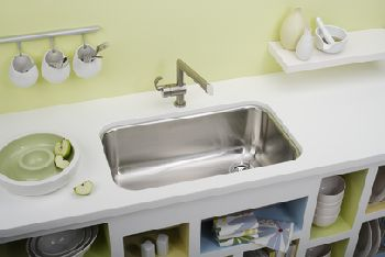 Elkay EGUH281610R Gourmet Deep Single Bowl Sink - Stainless Steel (Pictured w/Faucet - Not Included)