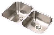 Elkay EGUH3120R Gourmet Undermount Double Bowl Kitchen Sink Stainless Steel