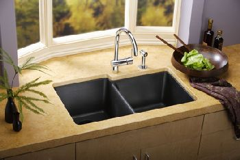 Elkay ELG250RWH Gourmet Top Mount Kitchen Sink - White (Pictured in Black)