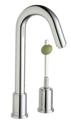Elkay LKM7727PSS Ella Low Lead Compliant Martini Bar Faucet with Single Lever Olive Handle - Stainless Steel