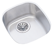 Elkay ELU1113 Harmony Lustertone Undermount Single Bowl Bar Sink Stainless Steel