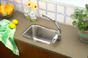 Elkay ELU129 Gourmet Single Bowl Bar Sink - Stainless Steel (Pictured w/Faucet - Not Included)