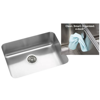 Elkay ELUH2115EK Gourmet e-dock Undermount Single Bowl Kitchen Sink - Stainless Steel