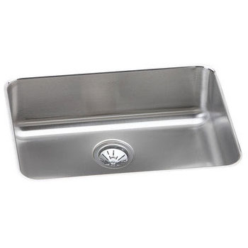 Elkay ELUH2317 Gourmet Undermount Single Bowl Kitchen Sink with Drain Opening Rear Center - Stainless Steel