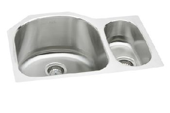 ... Double Bowl Kitchen Sink - Stainless Steel (Small Bowl on the Right