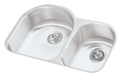 Elkay ELUH3119-R Harmony Lustertone Undermount Double Bowl Kitchen Sink Stainless Steel