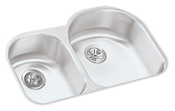 Elkay ELUH311910L Harmony Lustertone Undermount Duoble Bowl Kitchen Sink Stainless Steel