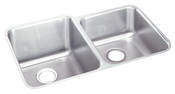 Elkay ELUH3120-R Gourmet Lustertone Undermount Double Bowl Kitchen Sink Stainless Steel