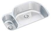 Elkay ELUH3221-L Harmony Lustertone Undermount Double Bowl Kitchen Sink Stainless Steel