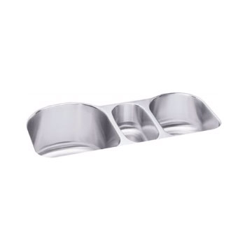 Elkay ELUH3920 Harmony Triple Bowl Undermount Stainless Steel Kitchen Sink