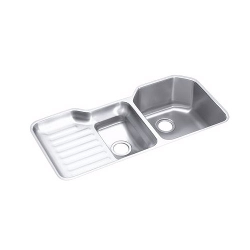 Elkay ELUH4221-R Harmony Lustertone Undermount Double Bowl Kitchen Sink Stainless Steel