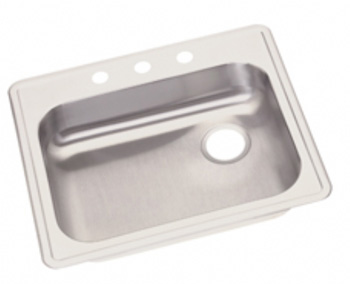 Elkay GE12521R Dayton Single Bowl Kitchen Sink - Stainless Steel