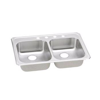 Elkay gecr3321 3 gourmet celebrity self rim double bowl - Kitchen sink rim ...
