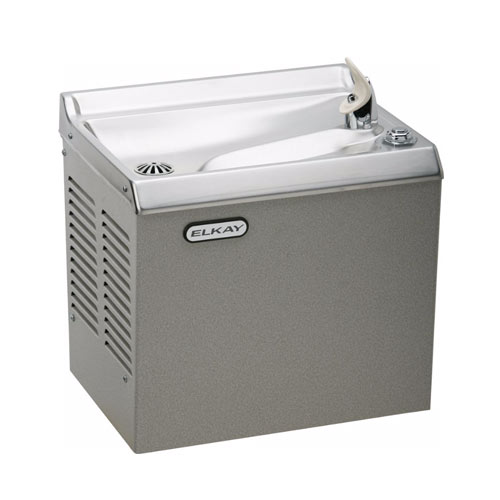 Elkay HEWDL Slant Front Non-Filtered Non-Refrigerated Wall Mount Wter Cooler - Light Gray Granite