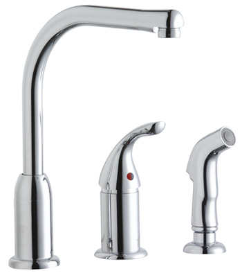 Elkay LK3001CR Everyday Single Handle Kitchen Faucet with Sidespray - Chrome