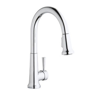 Elkay LK6000LS Everyday Single Handle Pull Down Kitchen Faucet - Lustrous Steel (Pictured in Chrome)