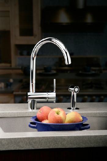 Elkay LK6176NK Allure Single Lever Kitchen Faucet w/Side Spray - Brushed Nickel (Pictured in Chrome)