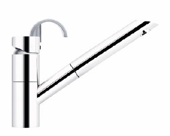 Elkay LK7120NK Ferrara Single Lever Pull-Out Kitchen Faucet - Brushed Nickel (Pictured in Chrome)