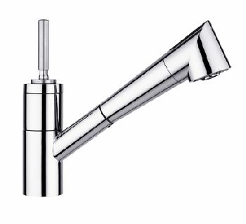 Elkay LK7220NK Arezzo Single Lever Pull-Out Kitchen Faucet - Brushed Nickel (Pictured in Chrome)