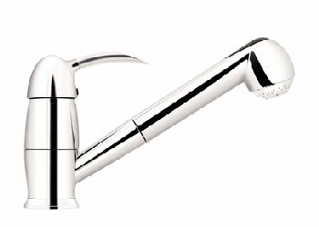 Elkay LK7620BC Ferrara Single Lever Pull-Out Kitchen Faucet - Brushed Chrome (Pictured in Chrome)