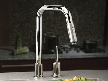 Elkay LK7720SSS Ella Pull-Down Kitchen Faucet - Satin Stainless Steel (Pictured in Polished Stainless Steel)