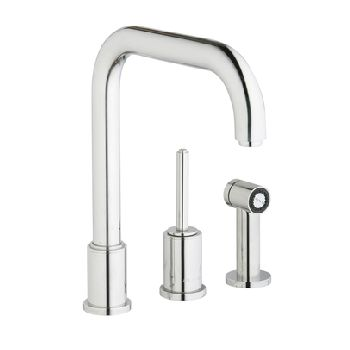 Elkay LK7722SSS Ella Kitchen Faucet w/Side Spray - Satin Stainless Steel (Pictured in Polished Stainless Steel)