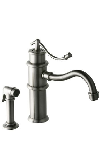 Elkay LK9102PN Oldare Single Lever Kitchen Faucet w/Side Spray - Polished Nickel (Pictured in Pewter)