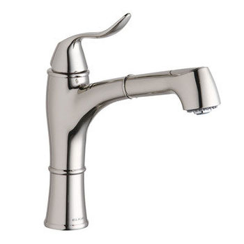 Elkay LKEC1041CR Explore Single Handle Kitchen Faucet with Pull Out Spray - Chrome
