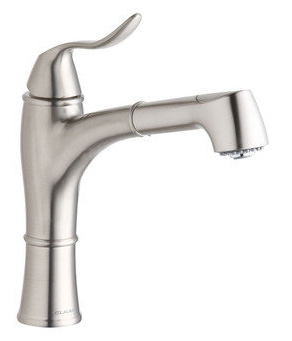 Elkay LKEC1041NK Explore Single Handle Kitchen Faucet with Pull Out Spray - Brushed Nickel
