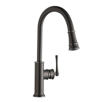 Elkay LKEC2031CR Explore Pullout Spray Single Handle Kitchen Faucet - Chrome (Pictured in Antique Steel)