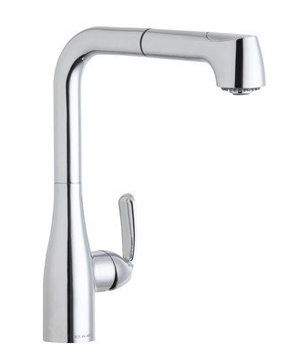 Elkay LKGT2041CR Gourmet Single Handle Kitchen Faucet with Pull Out Spray - Chrome