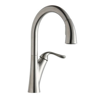 Elkay LKHA4031AS Harmony Single Handle Pull Down Kitchen Faucet - Antique Steel (Pictured in Lustrous Steel)