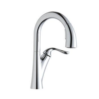 Elkay LKHA4032LS Harmony Single Handle Pull Down Bar/Prep Faucet - Lustrous Steel