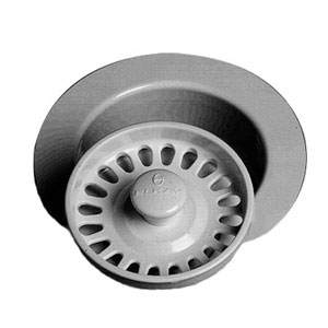 Elkay LKS35BK Standard Basket Strainer - Black (Pictured in Glacier White)