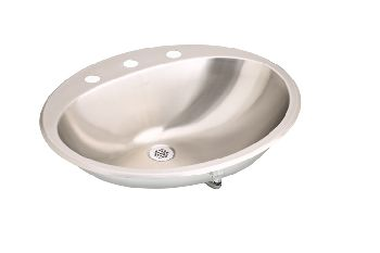 Elkay LLVR2017 Asana (Lustertone) Oval Lavatory Sink with Overflow - Stainless Steel
