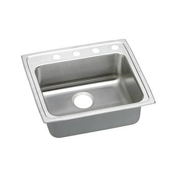 Elkay LRAD2219501 Gourmet (Lusterone) Single Bowl Top Mount Sink Stainless Steel - 1 Hole