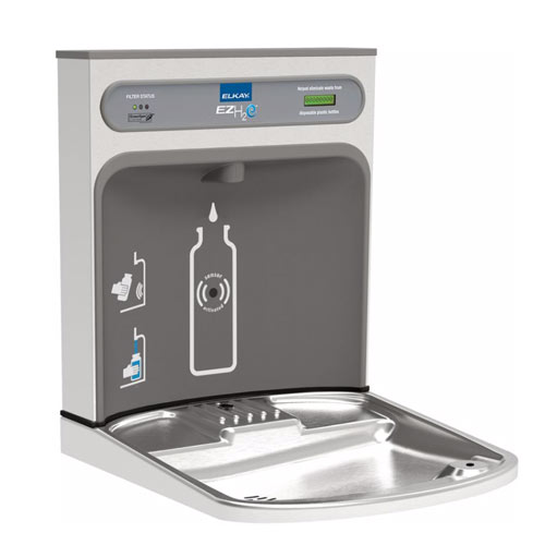 Elkay LZWSRK EZH2O RetroFit Filtered Non-Refrigerated Bottle Filling Station Kit - Stainless Steel