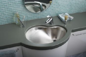 Elkay MYSTIC211415 Asana Single Bowl Lavatory Sink - Stainless Steel (Pictured w/Faucet - Not Included)