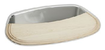 Elkay MYSTIC2717CB Mystic Single Bowl Sink - Stainless Steel (Includes Cutting Board, As Pictured)