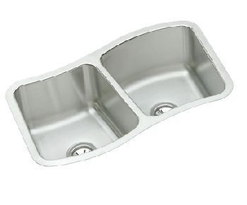 Elkay MYSTIC332010 Mystic Double Bowl Kitchen Sink - Stainless Steel