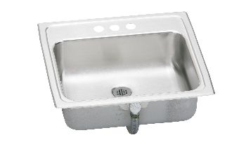 Elkay PSLVR1917LO Asana (Pacemaker) Rectangular Lavatory/Rectangular Bowl Sink without Overflow - Stainless Steel (Pictured w/Drain Assembly - Not Included)