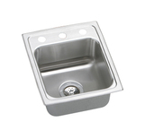 Elkay PSR1517-1 Gourmet (Pacemaker) Self-Rim Single Bowl Kitchen Sink Stainless Steel - Single Hole (Pictured w/3 Holes)