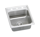 Elkay PSR1720-1 Gourmet (Pacemaker) Self-Rim Single Bowl Kitchen Sink Stainless Steel - Single Hole (Pictured w/3 Holes)