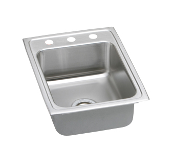 Elkay PSR1722 Gourmet (Pacemaker) Stainless Steel Single Bowl Top Mount Sink - No Holes