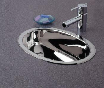 Elkay SCF1611SM Asana Universal Mount Lavatory Sink - Stainless Steel Mirror Finish (Pictured w/Faucet - Not Included)