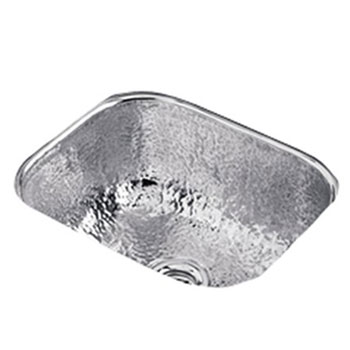 Elkay SCUH1012SH Gourmet Single Bowl Bar Sink - Stainless Steel Hammered Mirror Finish