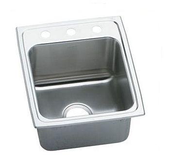 Elkay dlr1720103 gourmet lustertone deep self rim single - Kitchen sink rim ...
