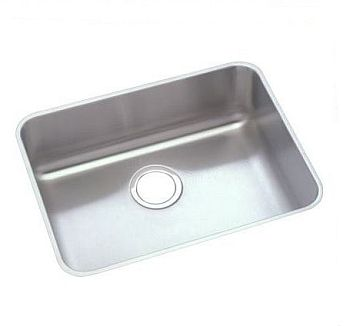 Elkay ELUHAD191655 Gourmet (Lusterone) Single Bowl Undermount Sink - Stainless Steel